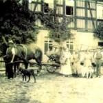 Ernte 1915 auf dem Hof Lösch in Fockendorf